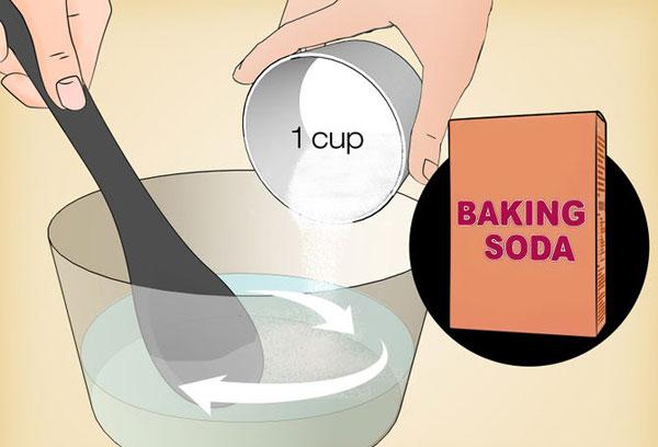 cách thông tắc bồn cầu bằng baking soda