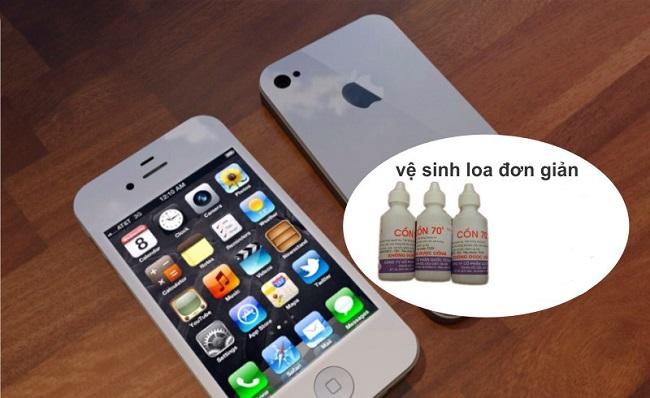 cách vệ sinh loa iphone