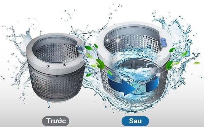 vệ sinh lồng máy giặt electronlux